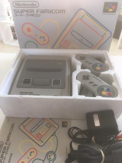Console Super Famicom Na Caixa 100% Original Nintendo