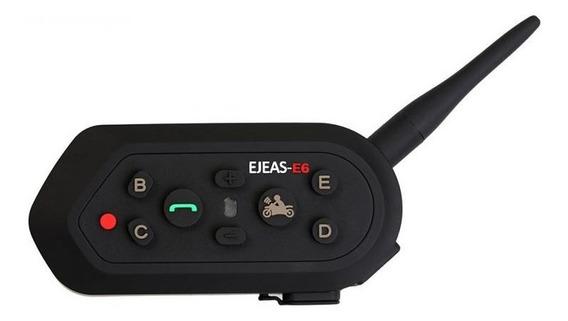 Comunicador Capacete Ejeas- E6 - 1200 Moto Bluetooth Unidade