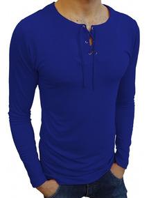 Camisa Camiseta Masculina Bata Casual Manga Longa Viscose
