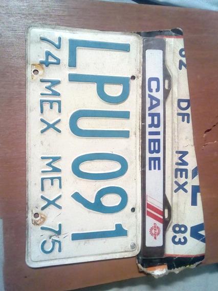Placa De Auto Antiguo