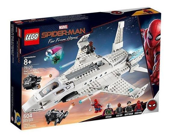 Lego Spiderman Lejos De Casa Jet Stark Y Ataque Dron 76130