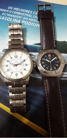 Relógio Victorinox Swiss Army + Bulova Titaniun Gmt