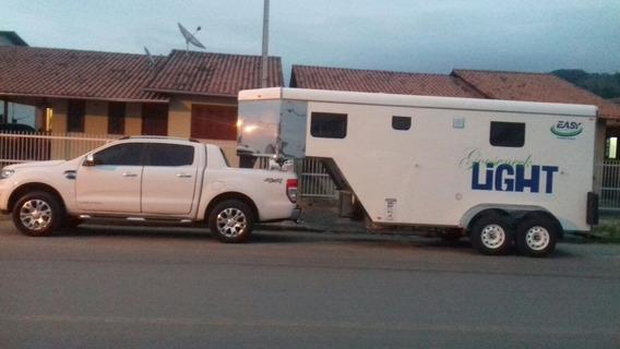 Trailer Para Cavalo E Turismo - Igual A Novo - - Y@w3