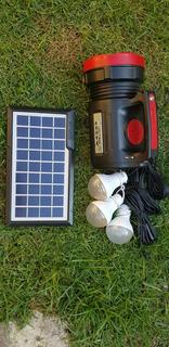 Kit Solar Lanterna Usb Carregamento Mp3