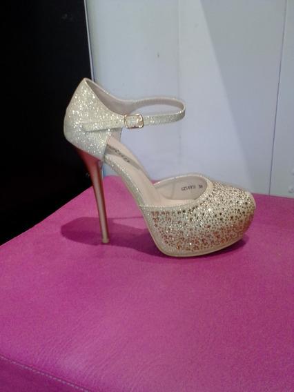 Zapatos Dama Fiesta Taco Aguja De 15 Cm