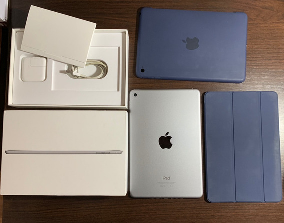 iPad Mini 4 128gb C/ Case E Smartcover Azul Apple Originais