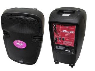 Bafle Potenciado Gbr Bateria Recargable-usb-bluetooth-2 Mic