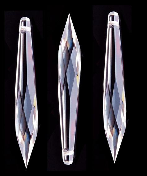 10 Pingentes Pirulito 32 Facetas Cristal Legítimo 100 Mm