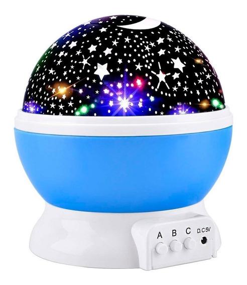 Lampara Noche Mesa Buro Proyector Estrella Niños Giratoria