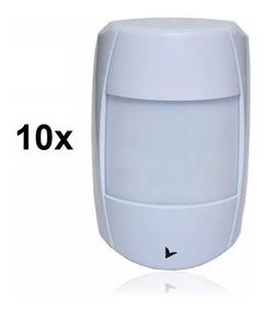 Kit 10 Sensores Com Fio Infra Vermelho Ib500 Digital Genno