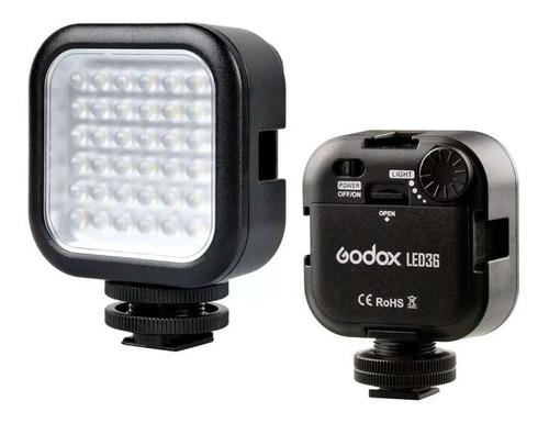 Luz contínua Godox LED36 tipo painel cor branca-fria