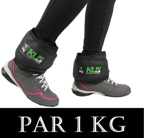 Imagem 1 de 3 de Par Caneleira Tornozeleira Kl Master Fitness Peso 1 Kg