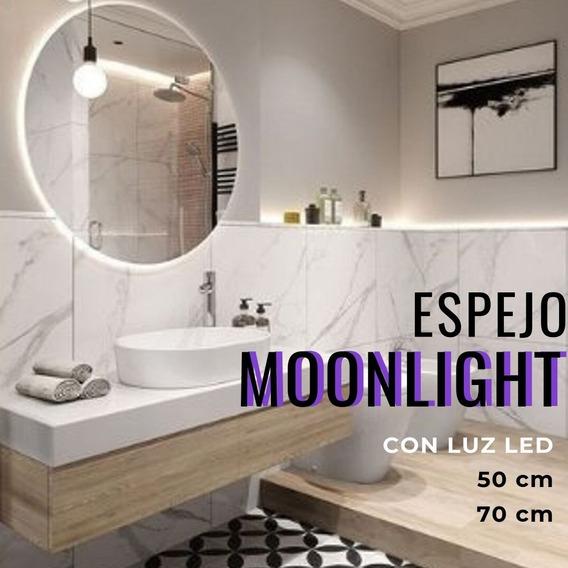 Espejo Redondo Con Luz Led Moonlight-50
