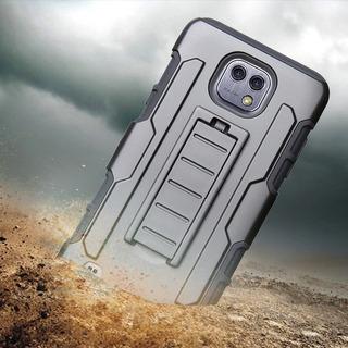 Capa Case Anti Impacto Emborrachada LG X Cam Clipe De Cinto
