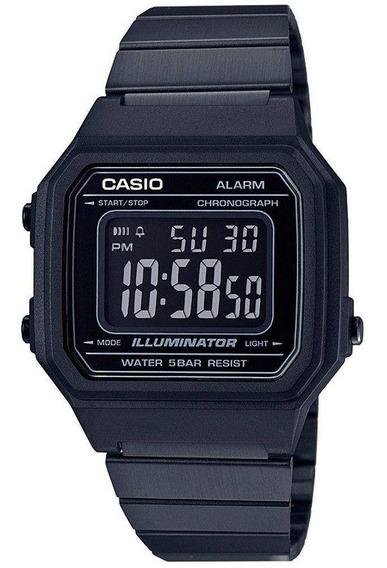 Relógio Casio Vintage Preto B650wb-1bdf Retrô C/ Nf