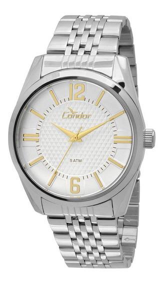 Relógio Analógico Condor Masculino Prateado Co2036dd3k