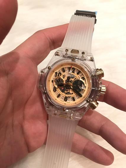 Relógio Hb Cristal 2 Anos Garantia 12xs/juros C/frete