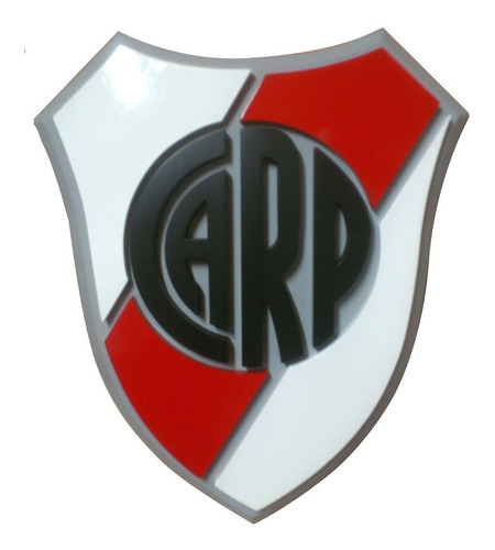 Escudo River Plate Argentina En 3d !!!  45 X 40 Cm