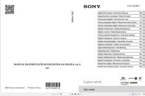 Manual Em Português Da Câmera Digital Sony Dsc-hx300