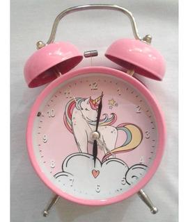 Unicornio Infantil Reloj Despertador Retro Vintage Campana