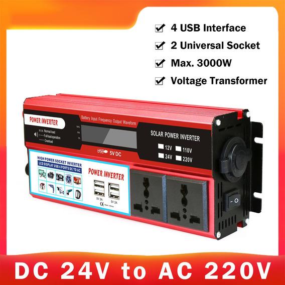 Dc 12v A Ac 110v Máx. Inversor De Corriente Solar De