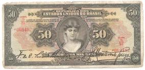 R186* - Cédula De 50 Mil Réis - Duas Chancelas - 1927 - Rara
