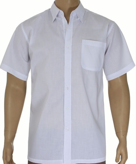 Camisa Social Masculina Manga Curta Garçom/casual Kit20