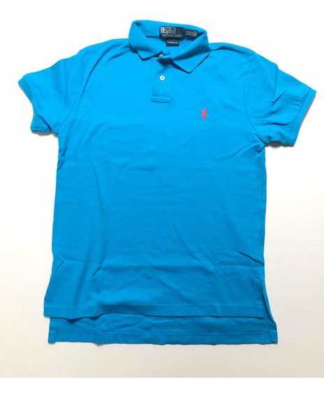Polo Azul Ralph Lauren Slim Fit Hombre