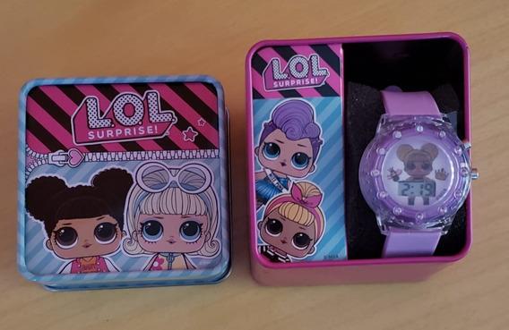 Relógio Infantil Lol Surprise Com Caixa Personalizada