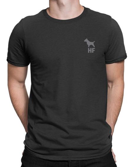 Remera Bull Terrier Hf ® Gris 100% Serigrafia