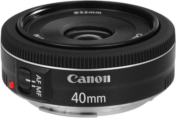 Lente Canon Ef 40mm F/2.8 Stm Original Garantia 1 Ano Nf-e