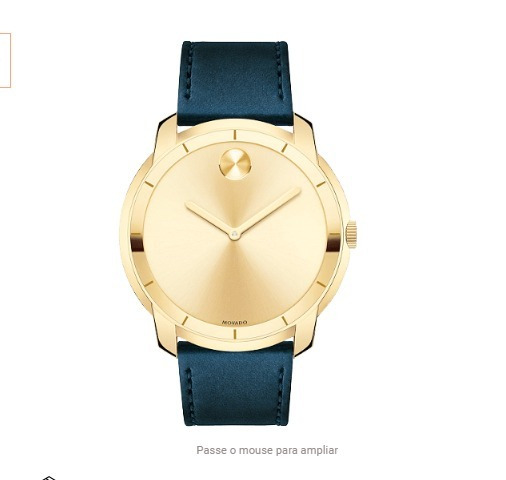 Relógio Movado Masculino Couro Azul