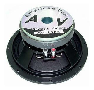 Parlante Woofer American Vox Av-1003 10 Pulgada 200w. 16 Ohm