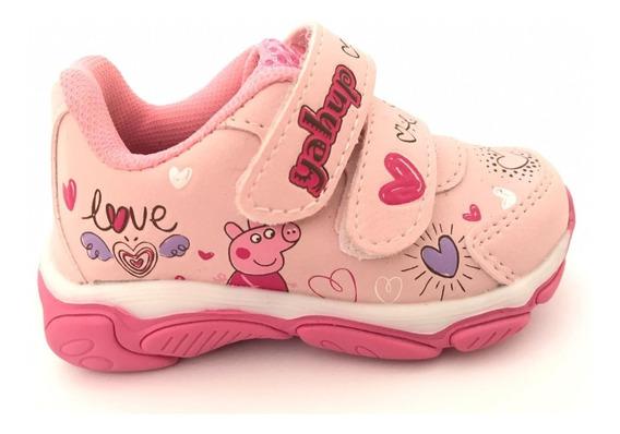 Tênis Infantil Feminino Menina Velcro Do 20 Ao 27 Com Luz 01-012-600