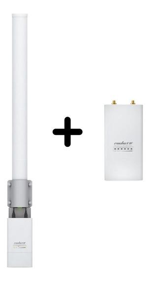 Antena Omnidireccional 10dbi 2.4ghz + Rocket M2 Antena Wifi