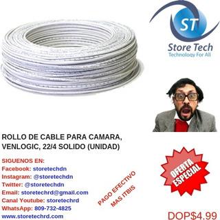 Rollo De Cable Para Camara, Venlogic, 22/4 Solido (unidad)