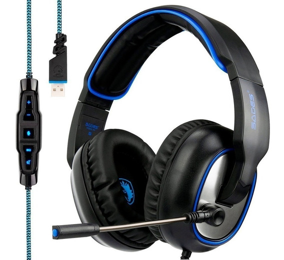Headset 7.1 Usb Gamer 217 Microfone Pc Ps4 Ps3