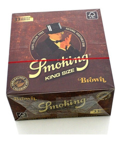 02 Caixa Seda Smoking Brown Marromatacado Grande Com 50 Cada