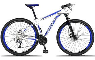Bicicleta Aro 29 Dropp Aluminum Câmbio Traseiro Shimano Acera 27 Marchas Freio Hidráulicos E Suspensão Dianteira