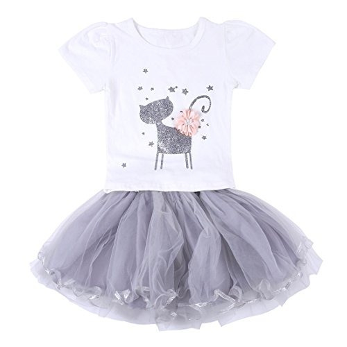 Neeseelily Ropa Para Ninas Bebes 2 Piezas Camiseta Linda C