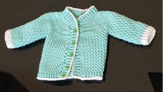 Suéter Tejido A Mano En Crochet Para Bebé Recién Nacido