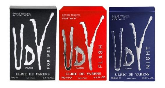 Kit 3 Perfume Udv For Men Udv Night Udv Flash 100ml Original