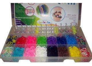 Loom Bands Caja Plastica Organizadora,4200 Gomitas,dijes !!