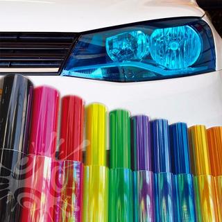 Vinil Adesivo Colorido Envelopa Farol Moto Carro 1m X 30cm