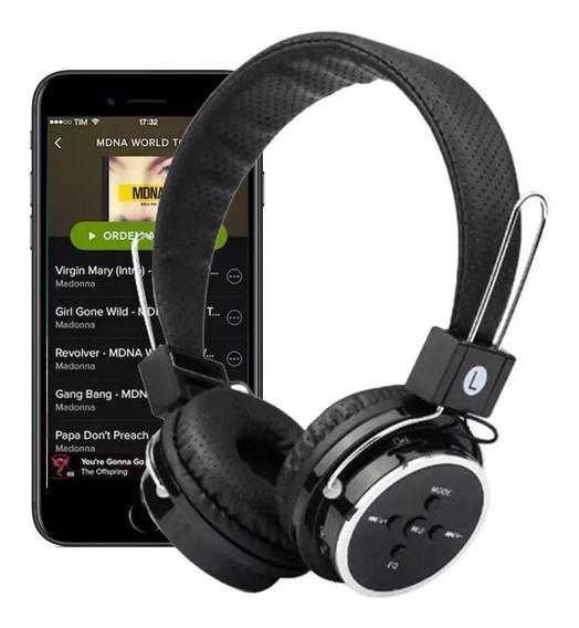Fone De Ouvido Headphone Sem Fio Micro Sd Usb Bluetooth 05