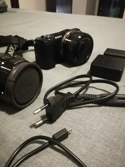 Sony A5000 Com 2 Lentes E Carregador.