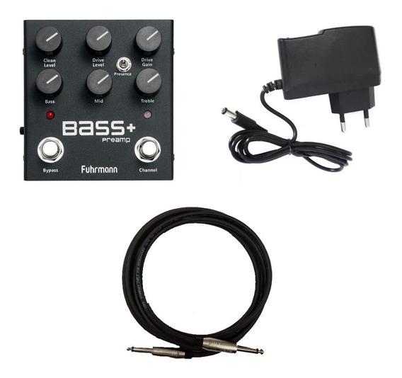 Pedal Fuhrmann Bass+ Ba01 + Fonte + Cabo Santo Angelo 3m P10