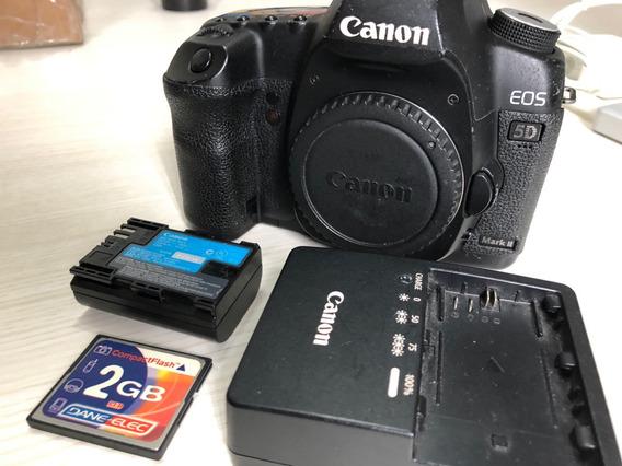Câmera Canon 5d Markii Só Corpo Fullframe Bem Conservada