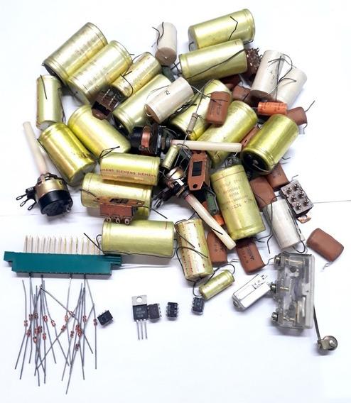 Potenciômetro Capacitor Resistor Chave Diodo 95 Pçs Kit 15-a
