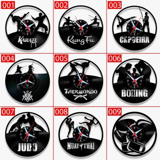 Relógio Esporte Luta Disco Arte No Lp Boxe Karate Relógio